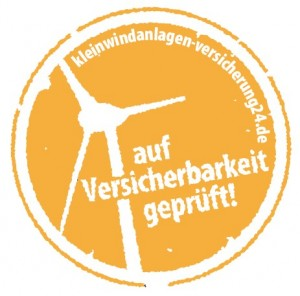 Prüfsiegel Kleinwindanlagen-Versicherung24
